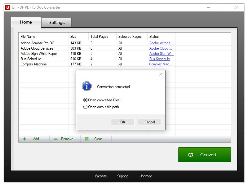 Windows 7 UniPDF PDF to Doc Converter 1.3.2 full