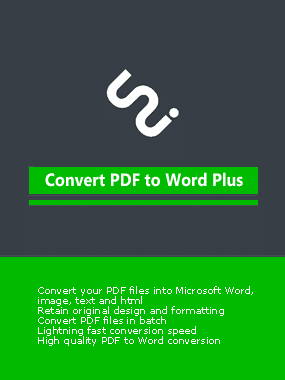 Convert PDF to Word Boxshot